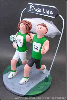 Running Wedding Cake Topper- love this-- would want the dogs in there :)