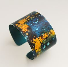 Anodised aluminium cuff from a collection finished yesterday. slicksilverjewellery.co.uk