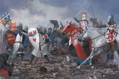 John of Luxembourg leads his company in a desperate charge against the Black Prince's division: