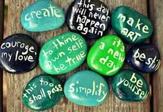 Theme rock-with text to show authors message. To keep as a lasting memory of the novel :)