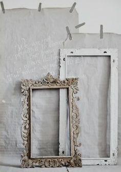 ♕ gorgeous vintage frames. Would love to make these into mirrors!