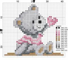 Ositos Cross Stitch Beginner, Mini Cross Stitch, Cross Stitch Cards, Cross Stitch Animals, Cross Stitching, Cross Stitch Embroidery, Baby Cross Stitch Patterns, Cross Stitch Designs, Baby Motiv