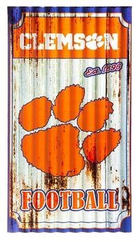 Clemson Tigers Corrugated Metal Wall Art