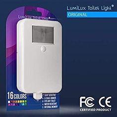 LumiLux Toilet Light Motion Detection - Advanced 16-Color LED Toilet Bowl Light, Internal Memory, Light Detection (White) – Tribe Toilet Bowl Light, Hazardous Materials, Memories, Led, Color, Products, Memoirs, Souvenirs, Colour