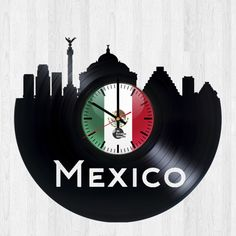 Mexico Handmade Vinyl Record Wall Clock Fan Gift - VINYL CLOCKS