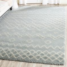 """Bungalow Rose Cosima Hand-Knotted Blue/Ivory Area Rug Rug Size: Runner 2'3"""" x 8'"""