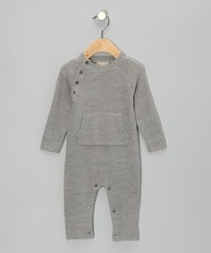 Take a look at this BOCK Cph Gray Merino Wool Playsuit - Infant on zulily today!