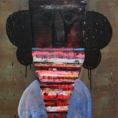 Raouf Rifai, 'Darwish 10', acrylic on canvas, 50 x 50 cm