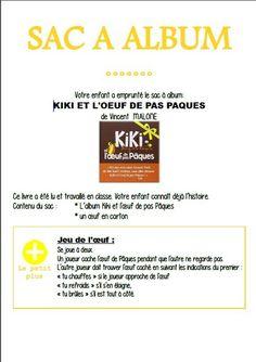 Sac à album Kiki et l'oeuf de pas Pâques chez Chloé