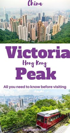 Hong Kong, Victoria Peak. How to get up there and what to know before you can enjoy this view. Travel tips, China. Hop-on and hop-off Hong Kong.