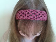 Bits & Bobbles : Easy Crochet Lace Headband Pattern