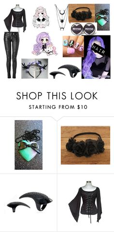 """""""Goth girl"""" by terrymakenzie on Polyvore featuring Albino and Balmain"""