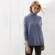 Roll Neck Side Panel Jumper | The White Company