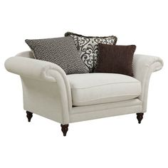 Curl up with a good book in this oversized armchair, a classic addition to your living room or library.  Product: Chair...