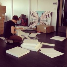 Today at TZR HQ: Jeremiah assembling countless filing cabinets. What would we do without him?!