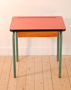 bureau écolier formica vintage - lucinevintage.com