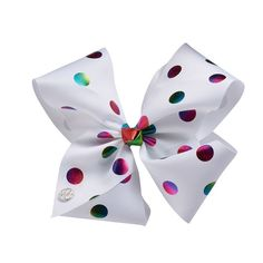 Create a standout hairstyle with this girls' JoJo Siwa rainbow foil dot bow. Jojo Hair Bows, Jojo Bows, Prayer For Daughter, Jojo Siwa Outfits, Dance Bows, Hello Kitty Rooms, Jojo Siwa Bows, Callie And Marie, Birthday Wishes For Myself