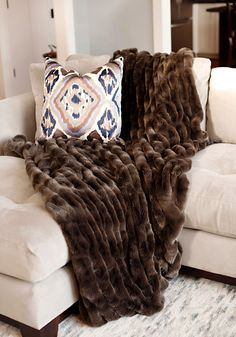 Fur Throw Instyle Decor