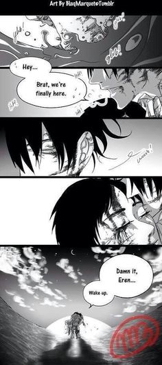 Right un the feels | Attack on a Titan | Shingeki no Kyojin | Levi (Rivaille) Ackerman | Eren Jaeger