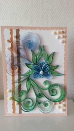 Quilling card.