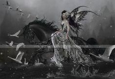 Lamentations of Swans by another of my favorite fantasy artists, Nene Thomas.