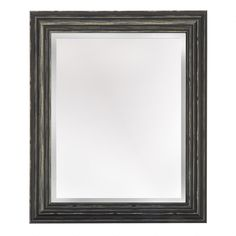 """40bad65f65a9 16""""x20"""" Alison Black Distressed Frame Wall Mirror - Christmas Tree Shops  and That! - Home Decor"""