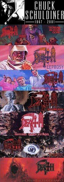 Chuck Schuldiner #Death's albums