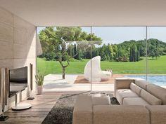 Aluminium panoramic window ORAMA MINIMAL FRAMES by ATELIER ITALIA