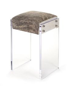 Acrylic Counter Stool - Cow Hide