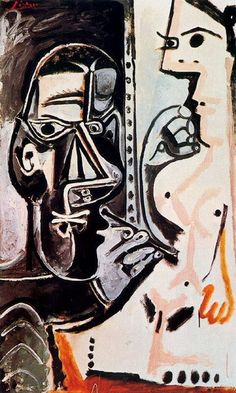 Pablo Picasso -The Artist and His Model 4  1963