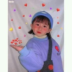 Cute Asian Babies, Asian Kids, Cute Babies, Baby Kids, Cute Baby Girl Pictures, Cute Girl Pic, Ulzzang Kids, Cute Love Gif, Cute Kids