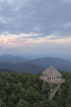 Hike to this historic fire tower just off the Blue Ridge Parkway!