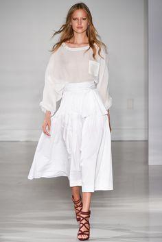Jill Stuart Spring 2015 Ready-to-Wear #shoes #runway #catwalk #white #dress #newyork #fashionweek