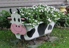 Old Wooden Chair Planter | old cookie cracker tins old tea kettle cream separator old sink old ...