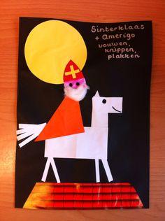 Vouwen (schuine vouw Sint, recht kruis Amerigo), knippen, plakken (Janine Ververs)