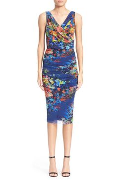 Fuzzi Fuzzi Floral Print Ruched Tulle Dress available at #Nordstrom