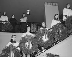 Christmas Choir in Student Union Building, 1954 - Explore UK