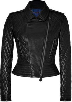 Burberry Brit Quilted Leather Biker Jacket in Black on shopstyle.com
