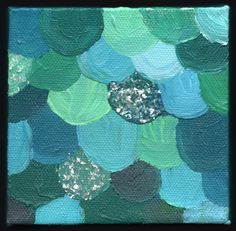 Shades Of Teal | teal scales abstract painting 4x4 [] - $100.00 : April Marie Mai, Art ...