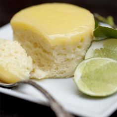 Baked Lime Pudding Cake for 4