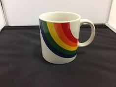 Vintage Old F.T.D.A. ***RAINBOW Gay Pride*** Ceramic Coffee Tea Mug Cup KOREA #unknown