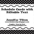 These schedule cards come in a variety of colors in the polka-dot pattern. They are editable and can personalized with your schedule and you can ad...