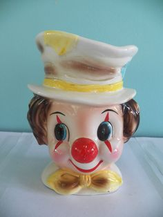1970s Homco 6 Quot Hand Painted Clown Figurines 1445