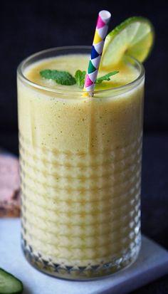 Frisk mango smoothie - mialindholm.dk | Sundheds og livsstils blog Shake, Frisk, Mango, Smoothie Recipes, Pudding, Desserts, Food, Recipies, Manga