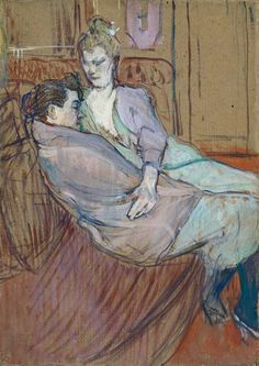 Henri De Toulouse-Lautrec | Henri de Toulouse-Lautrec, 'The Two Friends' 1894