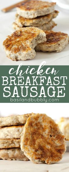 FINALLY Healthy Breakfast sausage -- made with lean ground chicken breast!  Ready in 10 minutes for an easy protein for your breakfast or brunch