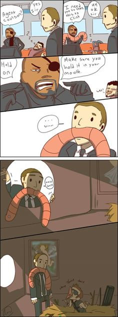 I love Tony in the background of the third frame.