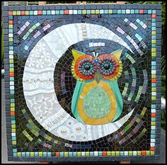 cat and owl mosaic - Google Search