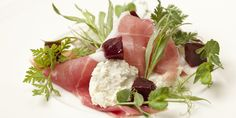 This gorgeous goats cheese salad recipe combines creamy goats cheese with salty Parma ham and earthy beetroot, resulting in a lovely combination of flavour from Andy Waters