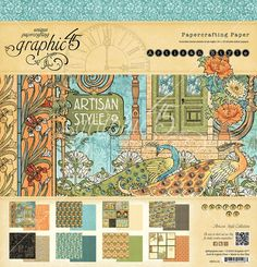 The 12x12 paper pad from Artisan Style, a new collection from Graphic 45. Look for it in stores in mid-February! #graphic45 #sneakpeeks